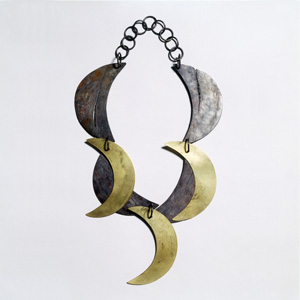 Dorothea Prühl 'Moon' 2003 Necklace - gold, titanium