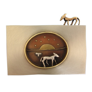 Judy McCaig 'On Distant Horizons' 2004. Brooch; silver, nickel silver, 18ct gold, copper, gilding metal