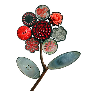 Grainne Morton Brooch 2004; silver, mixed media, readymades, found objects