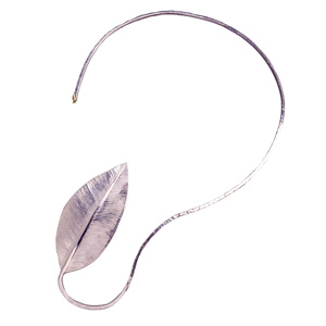 Liliana Reyes Osma 'At the end of the Way' 2004 Neckpiece - silver, gold