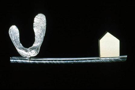 6.50 'Balance' 2000. Brooch; white metal, bone