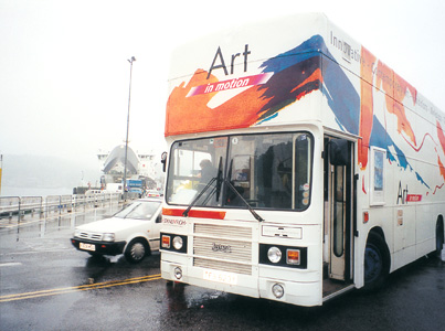 6.53 'Brooching the Subject' 2003. Installation; Travelling Gallery Exterior