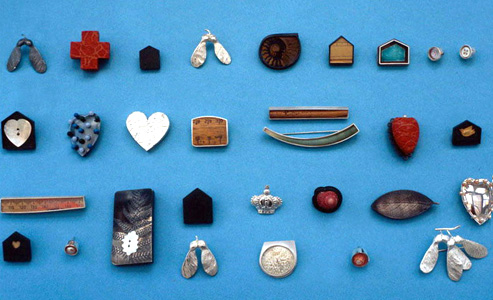 7.67 'Fragments' 2004. Pins; white metal, mixed media
